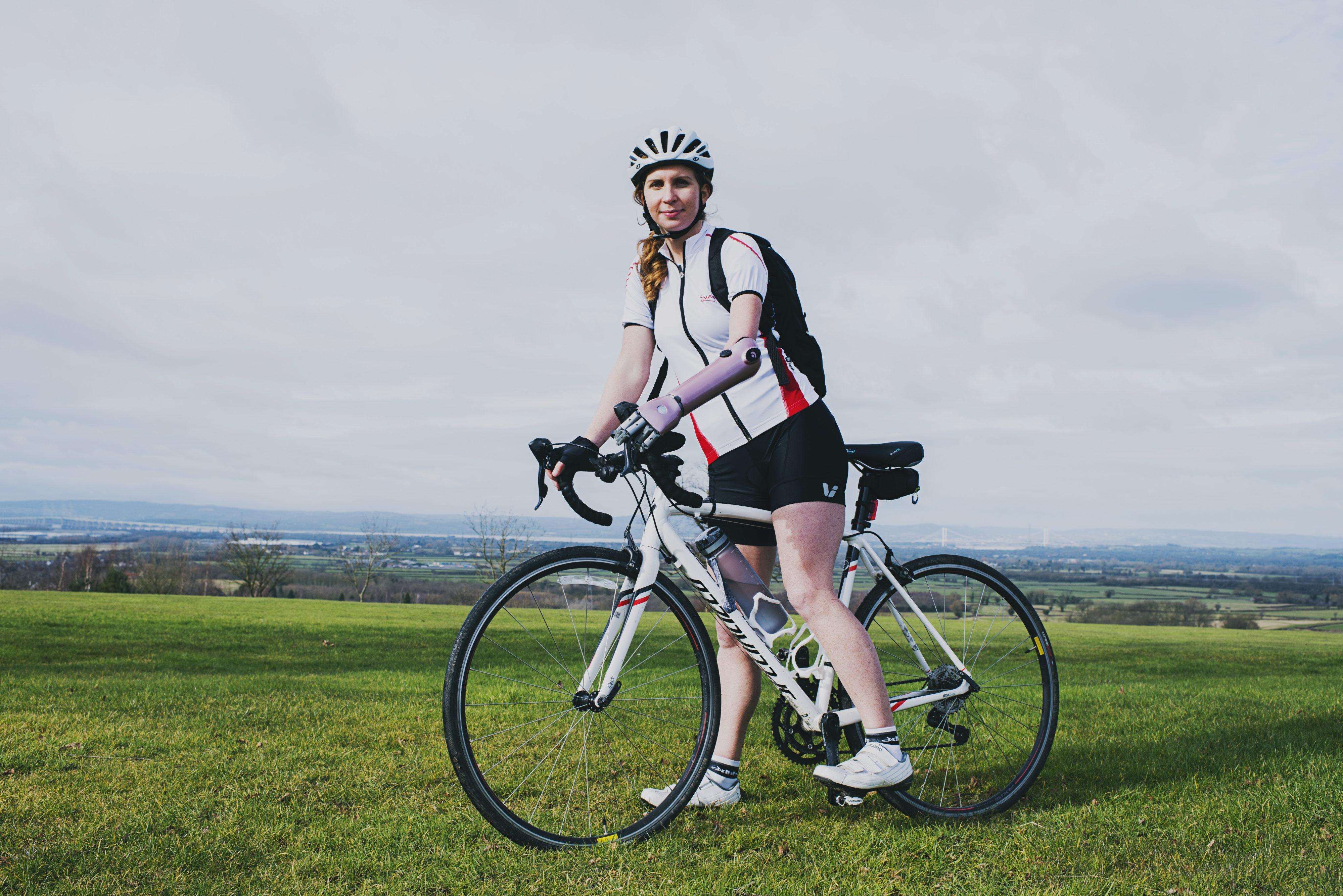 Kate Grey cycling
