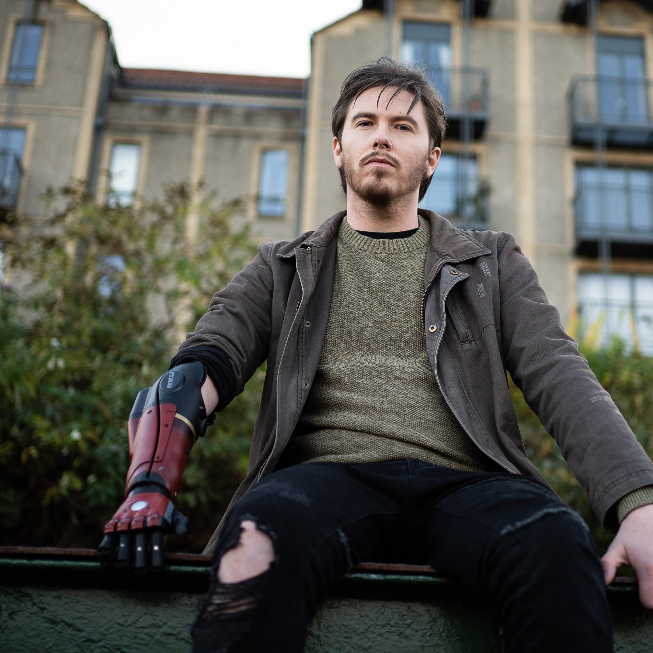bionic Daniel wearing metal gear solid Hero Arm
