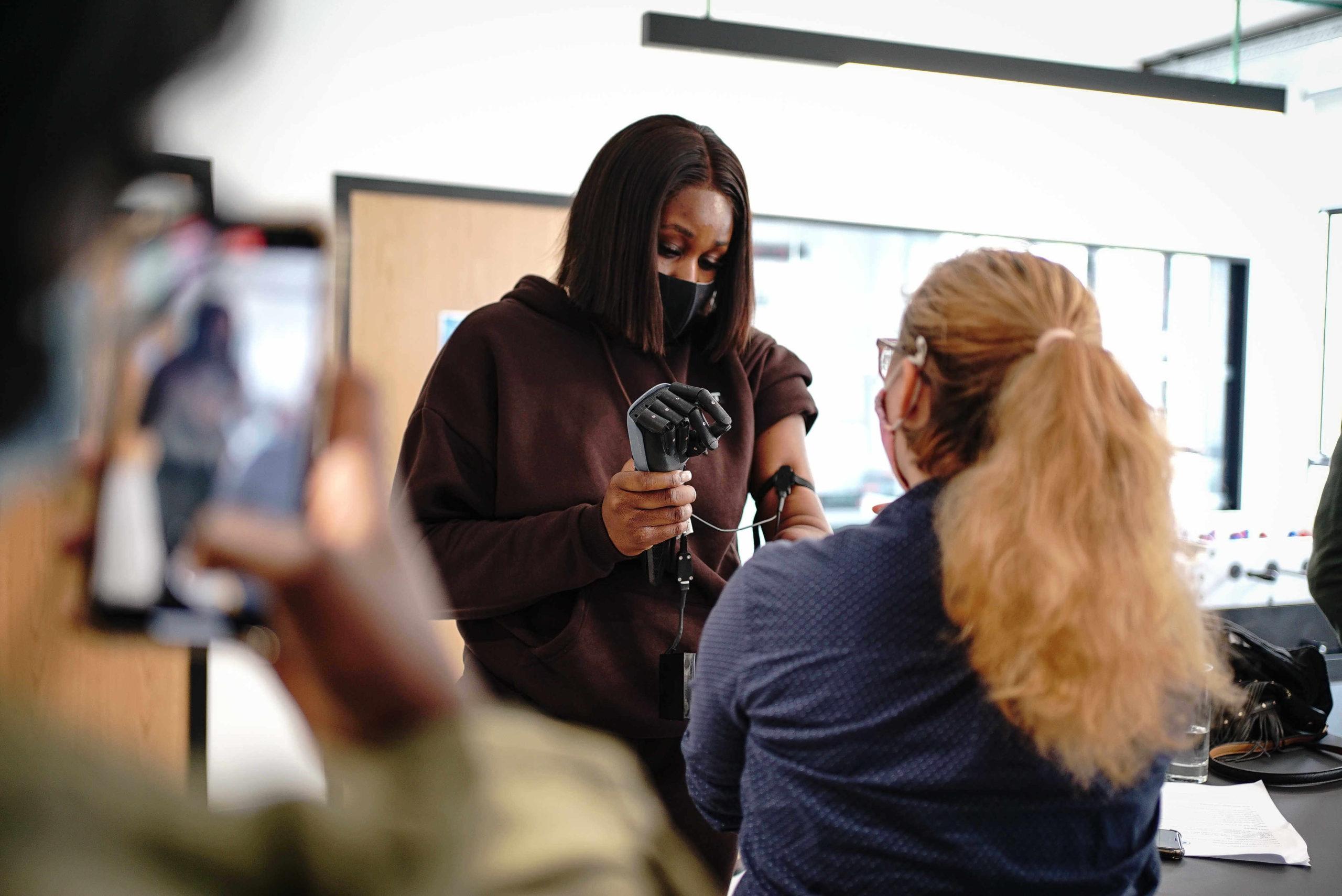 myoelectric prosthetic arm - Hero Arm trial day